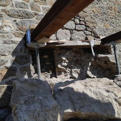 Reprise de maçonnerie suite effondrement d''un pignon pierre - Saint-Malo