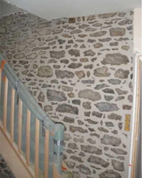 Mur pierre intérieur : rejointement et mise en valeur 0