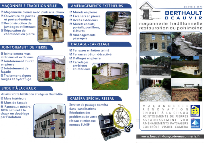 Berthault Beauvir Maçonnerie : une vue d''ensemble de nos métiers 0