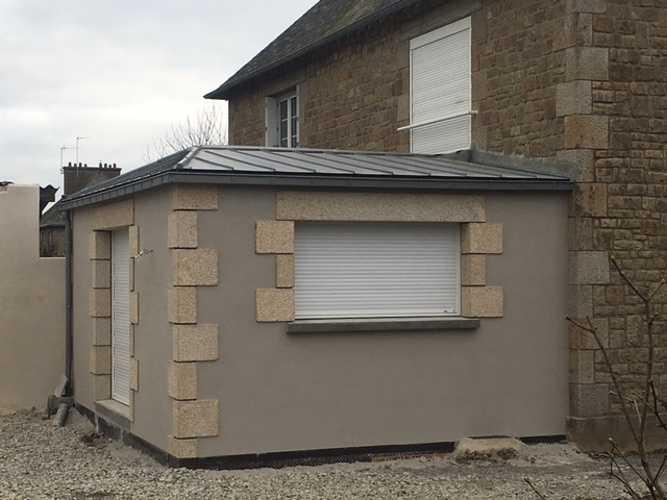 Extension de garage et de salon - Dinard 0