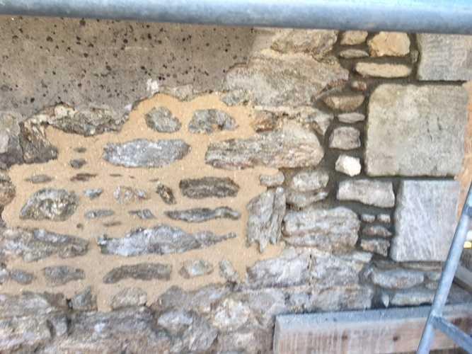 Retrouver la pierre sur la façade et jointements à la Chaux - Chantier Dinard 0