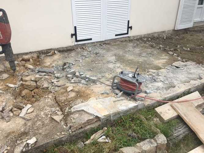 Démolition et création d'une nouvelle terrasse- Saint-Briac img1750