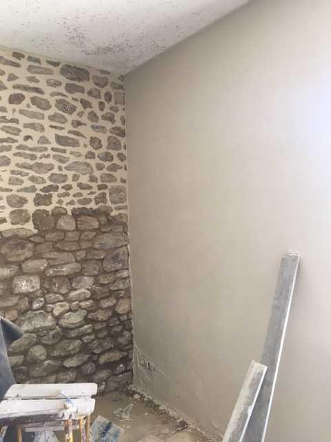 ... Mur Pierre Intérieur Enduit à La Chaux Img1637 ...